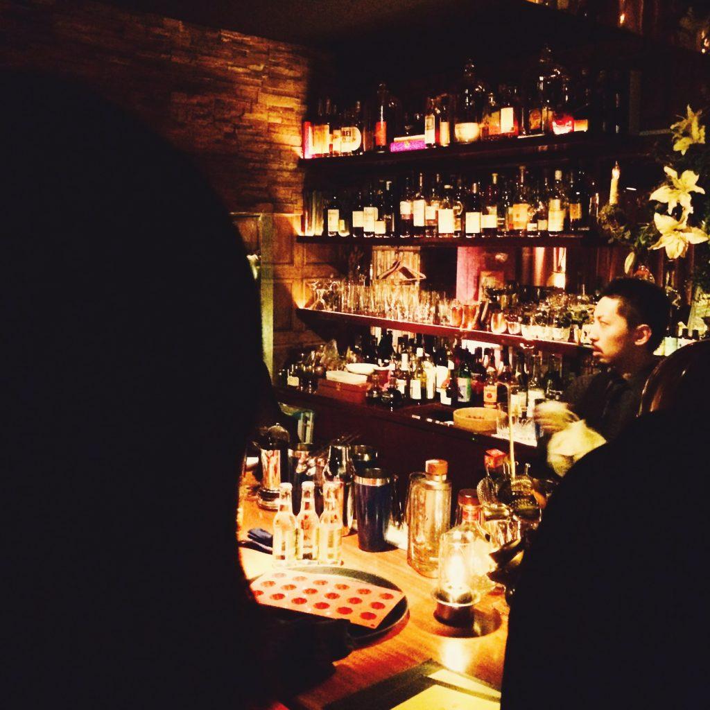Bartender at the bar in Akasaka, Tokyo