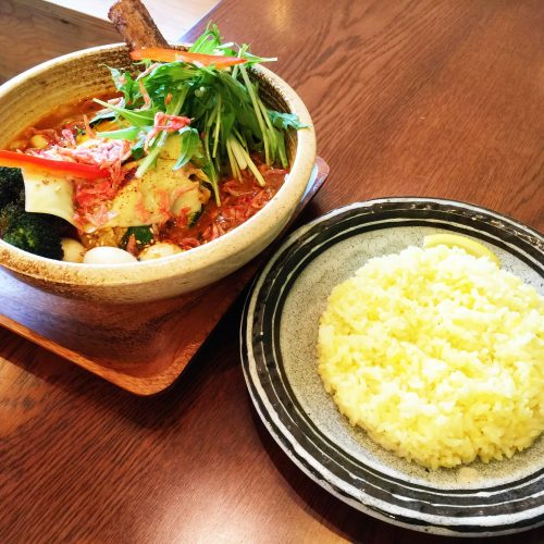 Seafood soup curry and rice at Believe inspired by Garaku